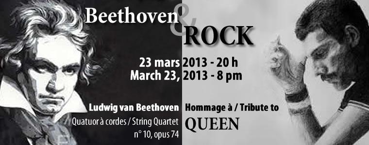 SAISON 2012-2023 - Beethoven & ROCK - Samedi 23 mars 2013 à 20 h / Saturday, March 23, 2013 at 8:00 pm